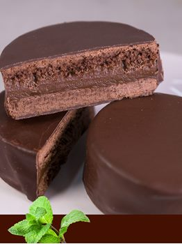 ALFAJOR DE CHOCOLATE Y MENTA